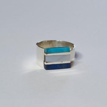 Caracol Carré Turquoise Nacre Lapis-lazuli 55€