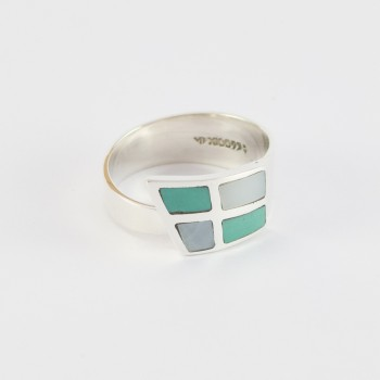 Turquoise Nacre Blanche 55€