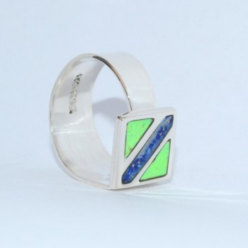 Bague Caracol Carre Milky Way QUETZAL CREATION-1