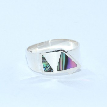 Bague Caracol Rond Triangles QUETZAL CREATION-1