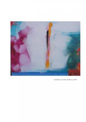 Falling - Acrylique sur toile 30x40, 2004