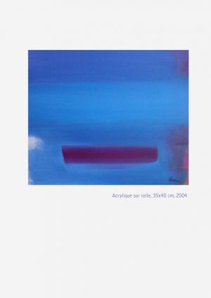 Horizon Bleu - Acrylique sur toile 35x40, 2004