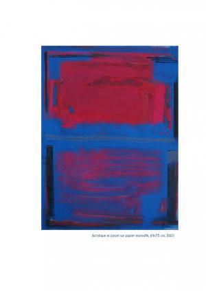 Pastel - Acrylique et pastel sur papier marouflé 69x75, 2003