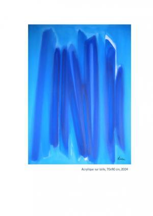 Sans Titre - Acrylique sur toile 70x90, 2004